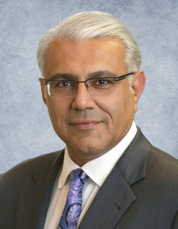This photo provided by Marcus & Millichap shows CEO Hessam Nadji.  Commercial real estate has been among the hardest-hit segments of the economy over the past year as the pandemic led millions of Americans to work remotely and turn to e-commerce like never before.  (Marcus & Millichap via AP)