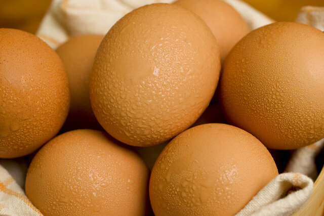FILE - This 2008 file photo shows boiled eggs in a bowl. In December 2019, U.S. health officials investigating a listeria outbreak are telling food service operators not to use hard-boiled eggs sold by the Georgia company Almark Foods. The Centers for Disease Control and Prevention says seven people in five states have been reported ill so far. That includes one death in Texas. (AP Photo/Larry Crowe)