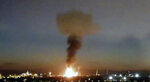 "In this image made from video provided by Laura_presicce, a fire is seen in Tarragona, Spain, Tuesday, Jan. 14, 2020. A massive explosion took place at an industrial zone for chemicals in northeastern Spain on Tuesday, and the regional emergency services agency warned people nearby not to go outside.  A tweet by emergency services for the Catalonia region called the blast in the port city of Tarragona a ""chemical accident"" and said no information on possible deaths or injuries was available. (Laura_presicce via AP)"