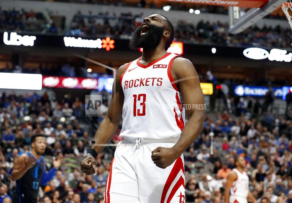 APTOPIX Rockets Mavericks Basketball