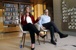 In this Feb. 1, 2019 photo, Bill and Melinda Gates are interviewed in Kirkland, Wash. The couple, whose foundation has the largest endowment in the world, are pushing back against a new wave of criticism about whether billionaire philanthropy is a force for good. They said they're not fazed by recent blowback against wealthy giving, including viral moments at the World Economic Forum and the shifting political conversation about taxes and socialism. (AP Photo/Elaine Thompson)