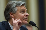FBI Director Christopher Wray listens to a question as he testifies during an oversight hearing of the House Judiciary Committee, on Capitol Hill, Wednesday, Feb. 5, 2020 in Washington. (AP Photo/Alex Brandon)