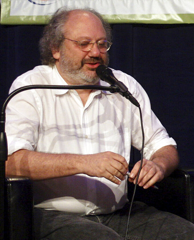 FILE - In this March 13, 2008 file photo, Hal Willner speaks at the SXSW Music Conference in Austin, Texas. (AP Photo/Jack Plunkett, File)