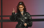 Rihanna presents the lifetime achievement award at the BET Awards on Sunday, June 23, 2019, at the Microsoft Theater in Los Angeles. (Photo by Chris Pizzello/Invision/AP)