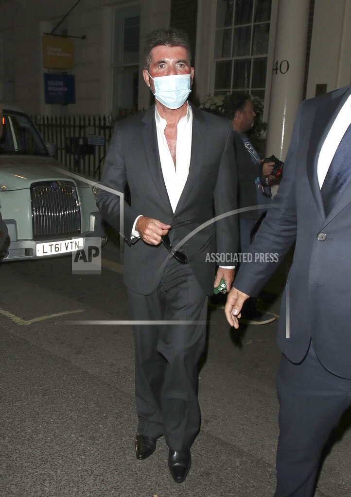 Simon Cowell is seen leaving The Arts Club in London - 6/8/21