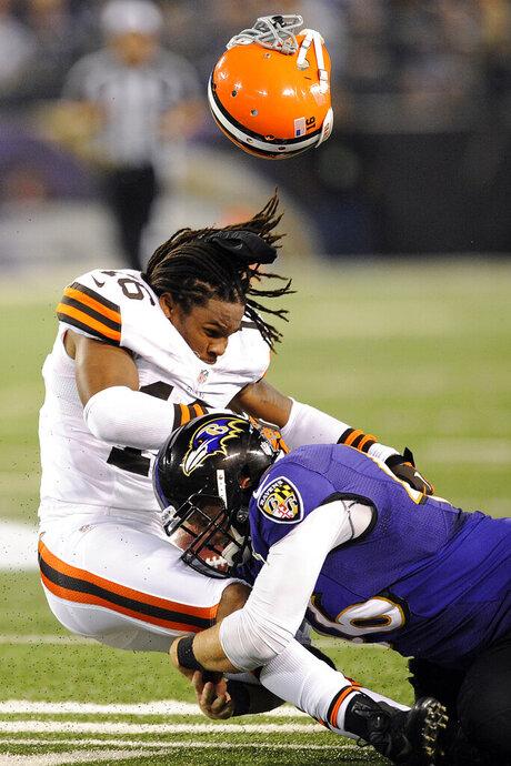 APTOPIX Browns Ravens Football