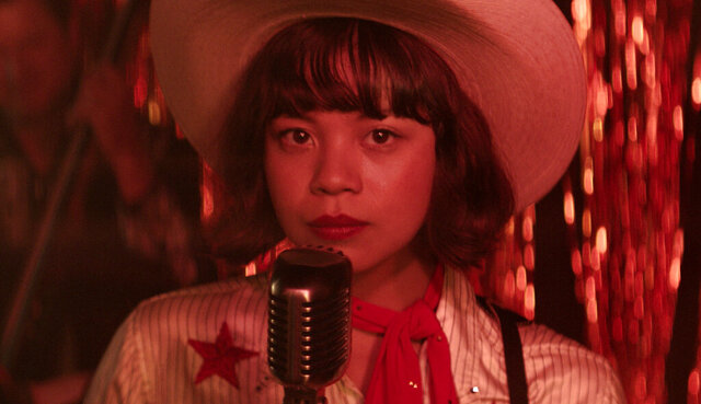 This image released by Sony Pictures shows Eva Noblezada in a scene from