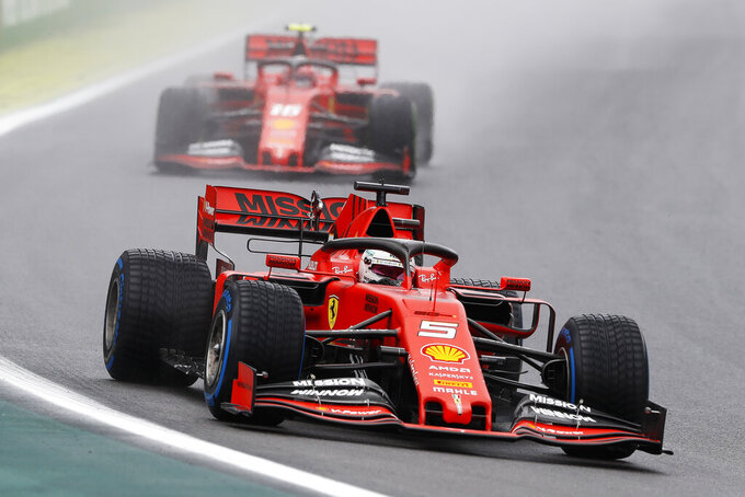 Recovering Ferraris dominate first Brazilian GP practices