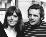 """FILE - In this Sept. 20, 1972 file photo, British actress Diana Rigg and actor Anthony Hopkins attend the opening night of Macbeth at the National Theatre, London. Rigg plays Lady Macbeth opposite Hopkins' Macbeth in the Shakespearean tragedy. Actress Diana Rigg, who became a 1960s style icon as secret agent Emma Peel in TV series """"The Avengers,"""" has died at age 82. Rigg's agent Simon Beresford says she died Thursday Sept. 10, 2020 at home with her family. (AP Photo/Bob Dear, File)"""