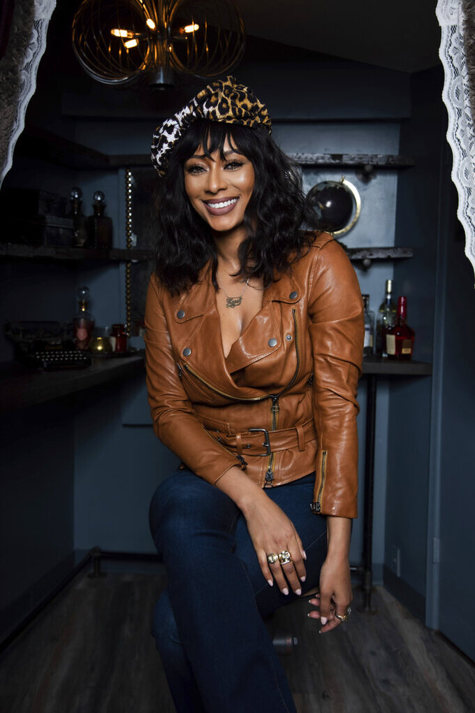 "Two-time Grammy nominee Keri Hilson poses for a portrait in Atlanta on March 31, 2021 to promote her upcoming TV movie ""Lust: A Deadly Sins Story,"" premiering Saturday on Lifetime. (Photo by Paul R. Giunta/Invision/AP)"