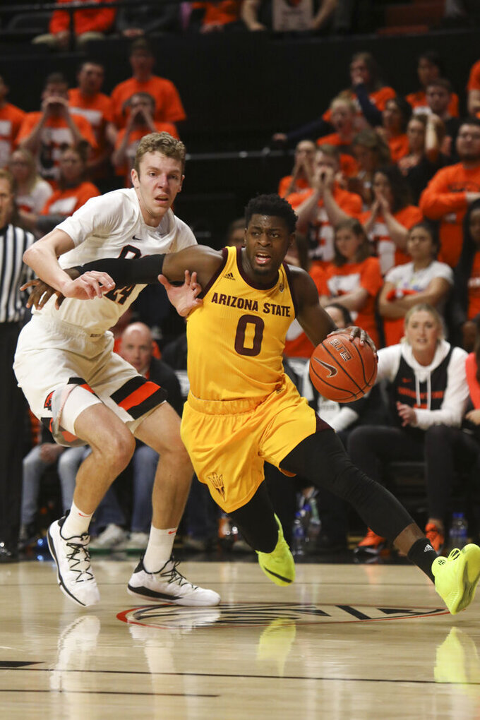 Dort scores 20 as Arizona State beats Oregon State 74-71