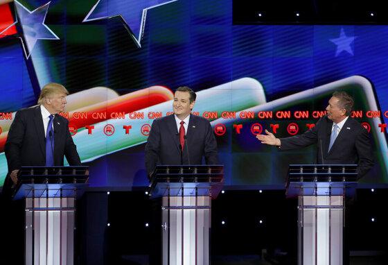 Donald Trump, Ted Cruz, John Kasich