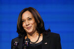 Vice President-elect Kamala Harris speaks during an event at The Queen theater in Wilmington, Del., Thursday, Jan. 7, 2021, to announce key nominees for the Justice Department. (AP Photo/Susan Walsh)