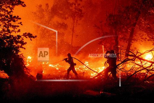 CORRECTION California Wildfires