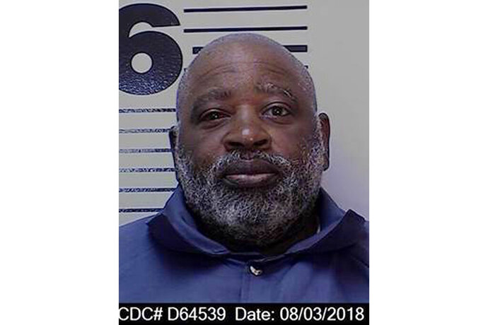 In this Aug. 3, 2018, photo, released by the California Department of Corrections and Rehabilitation, is Anthony McKnight. California officials say a San Francisco Bay Area serial killer has died of unknown causes on California's death row. Corrections officials said Friday, Oct. 18, 2019, that condemned inmate Anthony McKnight was found unresponsive in his San Quentin State Prison cell Thursday night and pronounced dead shortly thereafter. The cause is awaiting an autopsy, but corrections spokeswoman Terry Thornton says there is no reason to suspect foul play. (California Department of Corrections and Rehabilitation via AP)