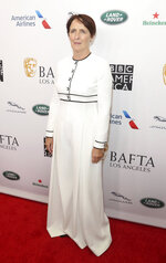 Fiona Shaw arrives at the 2019 Primetime Emmy Awards - BAFTA Los Angeles TV Tea Party at the Beverly Hilton on Saturday, Sept. 21, 2019, in Beverly Hills, Calif. (Photo by Willy Sanjuan/Invision/AP)