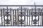 A railing covered in ice after an ice storm, on a street in Vladivostok, Russia, Friday, Nov. 20, 2020. Thousands of people in Russia's Far East region of Primorye remained without heating or electricity on Wednesday, Nov. 25, 2020 as local authorities and emergency services wrestled with the consequences of an unprecedented ice storm that hit the region last week. (AP Photo/Aleksander Khitrov)