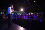 FILE - In a Thursday, May 9, 2019 file photo, Democratic presidential candidate Pete Buttigieg addresses supporters at a campaign event, in West Hollywood, Calif. The Democrats who want to be president are swarming California, competing for campaign cash and media attention while courting longtime allies of home-state Sen. Kamala Harris on their rival's own turf. (AP Photo/Jae C. Hong, File)