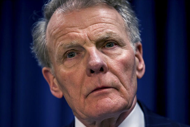 FILE - In this July 15, 2015 file photo, House Speaker Michael Madigan, D-Chicago, listens to during a news conference at the Illinois State Capitol, in Springfield, Ill. Three more Democrats withdrew support on Thursday, Nov. 19, 2020,from Speaker Michael Madigan's continued control of the Illinois House after his closest confidant and three others were indicted in a long-running bribery scheme involving utility giant ComEd. (Justin L. Fowler/The State Journal-Register via AP, File)