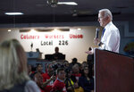 Democratic presidential candidate and former Vice President Joe Biden responds to a question during town hall meeting at the Culinary Union, Local 226, headquarters in Las Vegas Wednesday, Dec. 11, 2019. (AP Photo/Las Vegas Sun/Steve Marcus)