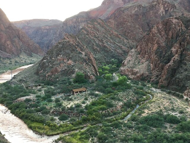 This Sept. 26, 2018 photo provided by the Grand Canyon National Park shows a wastewater treatment plant at Phantom Ranch. People who hike to the bottom of the Grand Canyon will have less options for overnight stays and for restrooms because of strains on the wastewater treatment plant.(Grand Canyon National Park via AP)