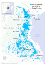 Flooding in Sofala Province in Mozambique.;