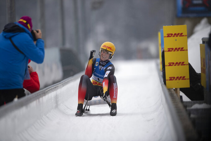 Geisenberger wins 8th luge overall World Cup women's title