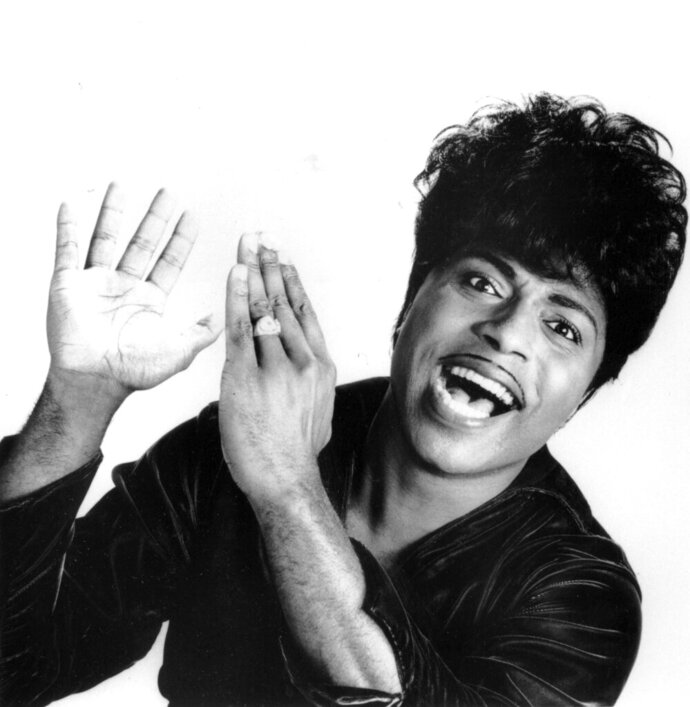 """FILE - This 1966 file photo shows Little Richard.  Tthe self-proclaimed """"architect of rock 'n' roll"""" whose piercing wail, pounding piano and towering pompadour irrevocably altered popular music while introducing black R&B to white America, has died Saturday, May 9, 2020.(AP Photo, File)"""