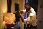 This image released by Universal Pictures shows Aldis Hodge in a scene from