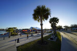 Fans attend the NFL Experience for Super Bowl LV Friday, Jan. 29, 2021, in Tampa, Fla. (AP Photo/David J. Phillip)