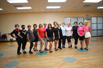 Members of the tap class at the Louisiana Athletic Club in Pineville, La., Sept. 10, 2021, tap not only for fitness but for the social aspect, said instructor Pam Green, center, who regards the women as not only her students but her friends. (Melinda Martinez/The Daily Town Talk via AP)