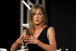 Jennifer Aniston speaks at