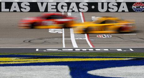 APTOPIX NASCAR Las Vegas Auto Racing