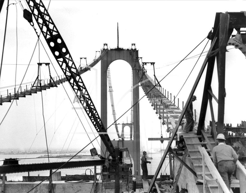 Associated Press Domestic News New York United States WHITESTONE BRIDGE CONSTRUCTION