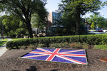 The British Embassy in Washington, Wednesday, July 10, 2019. British ambassador to the U.S., Kim Darroch, resigned Wednesday, just days after diplomatic cables criticizing President Donald Trump caused embarrassment to two countries that often celebrated having a
