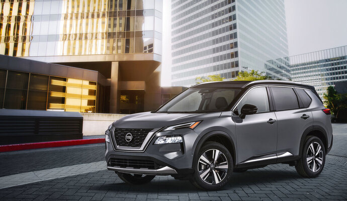 This photo provided by Nissan shows the 2021 Nissan Rogue. (Courtesy of Nissan via AP)