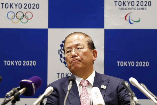 "Tokyo 2020 Organizing Committee CEO Toshiro Muto attends a news conference after a Tokyo 2020 Executive Board Meeting in Tokyo Monday, March 30, 2020. Tokyo Olympic President Yoshiro Mori said Monday he expects to talk with IOC President Thomas Bach this week about potential dates and other details for the rescheduled games next year. Both Mori and Muto said the the cost of rescheduling will be ""massive"" - local reports suggest several billion dollars - with most of the expenses borne by Japanese taxpayers. (Issei Kato/Pool Photo via AP)"