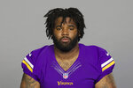 FILE - This is a 2018 file photo showing Sheldon Richardson of the Minnesota Vikings NFL football team. A person familiar with the deal says the Cleveland Browns and free agent defensive tackle Sheldon Richardson have agreed to a three-year, $39 million contract. Richardson has played with three other team since 2013 and will receive $21.5 million guaranteed.The person spoke to The Associated Press on Tuesday, March 12, 2019,  on the condition of anonymity because NFL rules prohibit teams from announcing signings until 4 p.m. EDT Wednesday. (AP Photo/File)   (AP Photo)