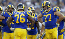 Rams Line Challenged Football