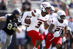 Northern Illinois wide receiver Tyrice Richie (3) carries the ball against Vanderbilt in the first half of an NCAA college football game Saturday, Sept. 28, 2019, in Nashville, Tenn. (AP Photo/Mark Humphrey)