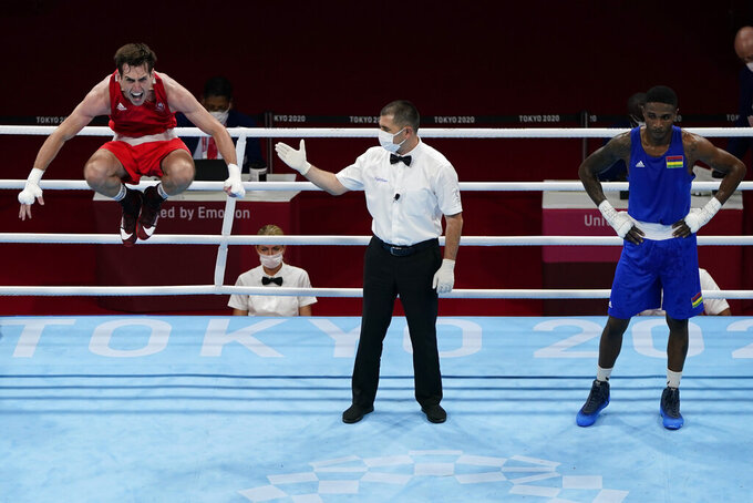 Irish boxer injures ankle celebrating win, out of Olympics