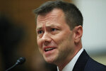 FILE - In this July 12, 2018 file photo, then-FBI Deputy Assistant Director Peter Strzok, testifies before a House Judiciary Committee joint hearing on