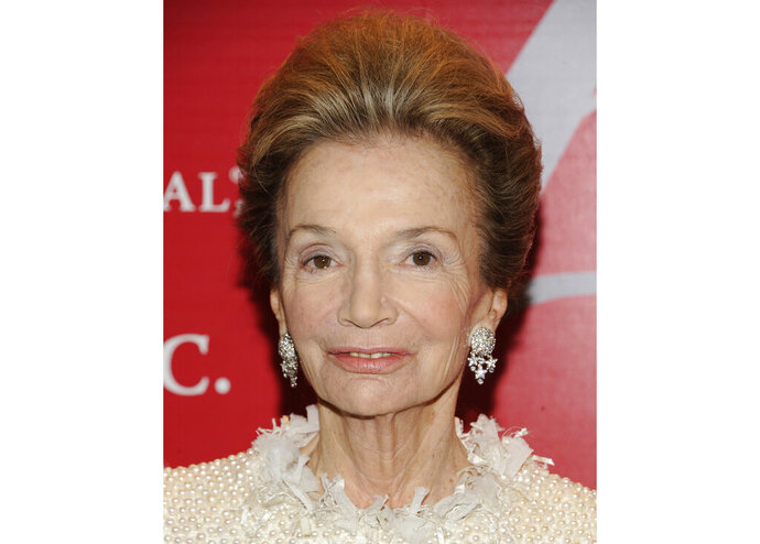 FILE - In this Thursday, Oct. 27, 2011 file photo, socialite Lee Radziwill attends the Fashion Group International's 28th Annual Night of Stars