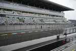 General view ahead of qualifying the third practice session at the Sochi Autodrom circuit, in Sochi, Russia, Saturday, Sept. 25, 2021. The Russian Formula One Grand Prix will be held on Sunday. (AP Photo/Sergei Grits)