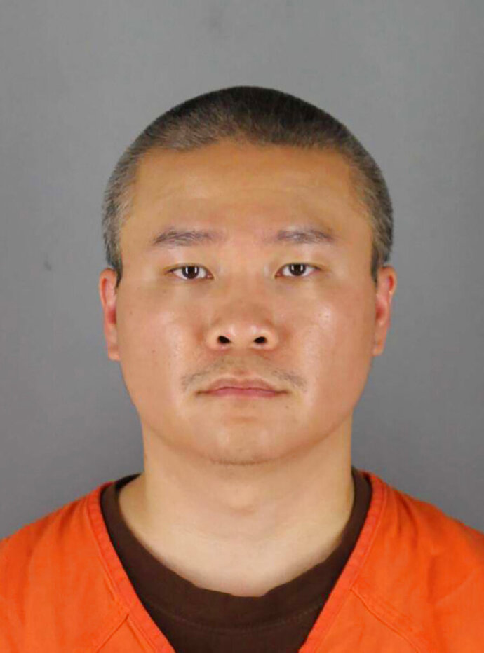 This combination of photos provided by the Hennepin County Sheriff's Office in Minnesota on Wednesday, June 3, 2020, shows Tou Thao. Thao and two other Minneapolis police officers have been charged with aiding and abetting Derek Chauvin, who is charged with second-degree murder of George Floyd, a black man who died after being restrained by the Minneapolis police officers on May 25. (Hennepin County Sheriff's Office via AP)
