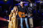 Lee Ann Womack, left, and Alan Jackson perform at the 14th Annual ACM Honors at Ryman Auditorium on Wednesday, Aug. 25, 2021, in Nashville, Tenn. (Photo by Amy Harris/Invision/AP)