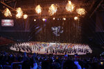 In this Saturday, Nov. 30, 2019, file photo, fireworks display during the opening ceremony of the 30th South East Asian Games at the Philippine Arena, Bulacan province, northern Philippines. (AP Photo/Aaron Favila, File)