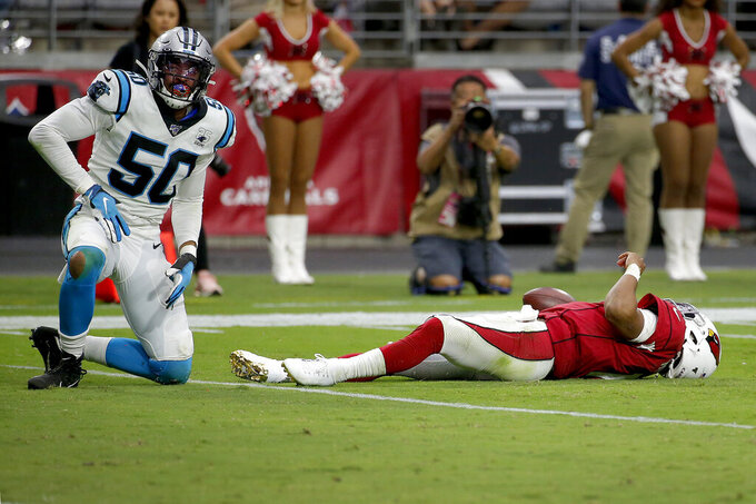 Cardinals' defense wilts in 38-20 loss to Panthers
