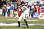 Oregon State quarterback Jake Luton throws down field against Arizona in the first half during an NCAA college football game, Saturday, Nov. 2, 2019, in Tucson, Ariz. (AP Photo/Rick Scuteri)