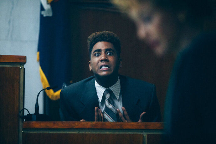 This image released by Netflix shows Jharrel Jerome in a scene from